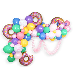 Giant Balloon Garland Kit -Donuts Forever Pink Mint Purple Yellow Blue Giant Balloon Arch -  XL Photo Backdrop, Donut Theme, Donut Grow up