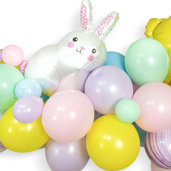 "Giant Balloon Garland Kit - Yellow Pink  Blue Lavender Pistachio Teal-""Hoppy Spring"" Balloon Garland, Pastel Easter Spring Balloon Garland"