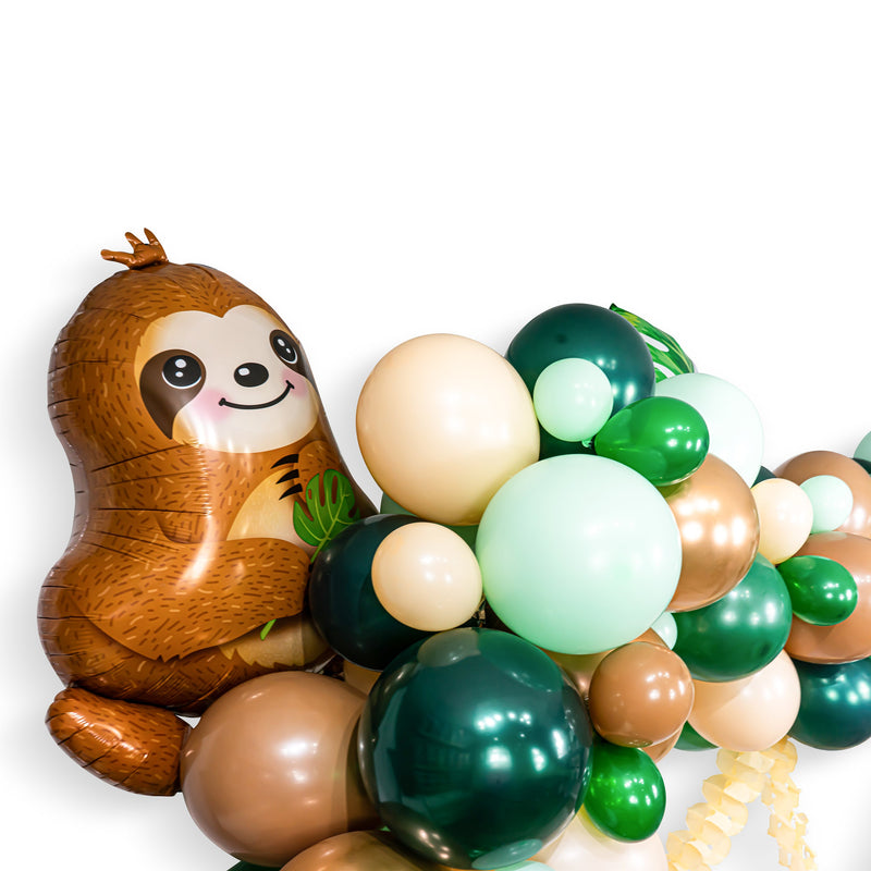 "Giant Balloon Garland Kit - Copper Green Brown Nude -""Sloth"" Balloon Garland, Sloth Palm Leaf Balloon Garland, Sloth Neutral Balloon Garland"