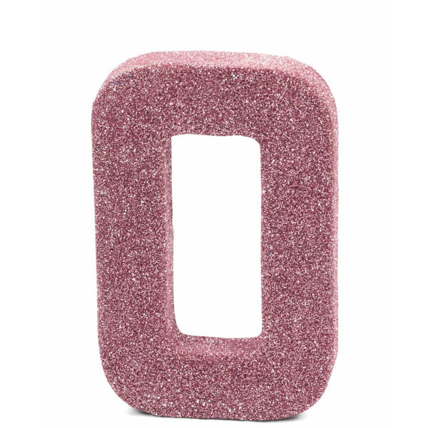"8"" Blush Pink Glitter Number 0, Large Glitter Numbers, Jamboree Party Box, Jamboree"