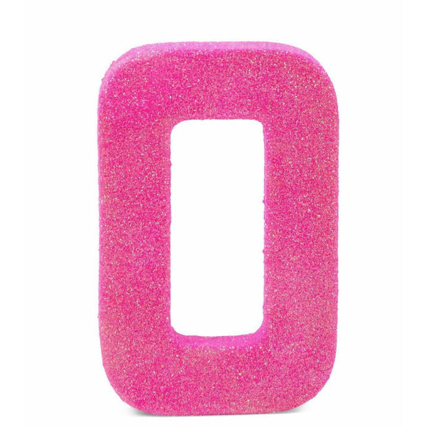 "8"" Hot Pink Glitter Number 0, Large Glitter Numbers, Jamboree Party Box, Jamboree"