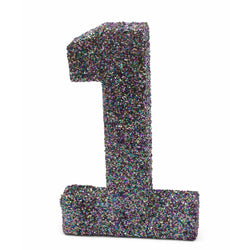"8"" Mermaid Sparkle Glitter Number 1, Large Glitter Numbers, Jamboree"