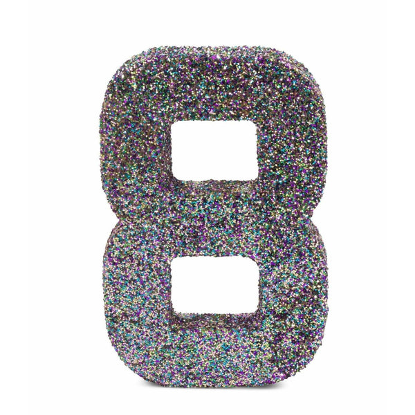 "8"" Mermaid Sparkle Glitter Number 8, Large Glitter Numbers, Jamboree"