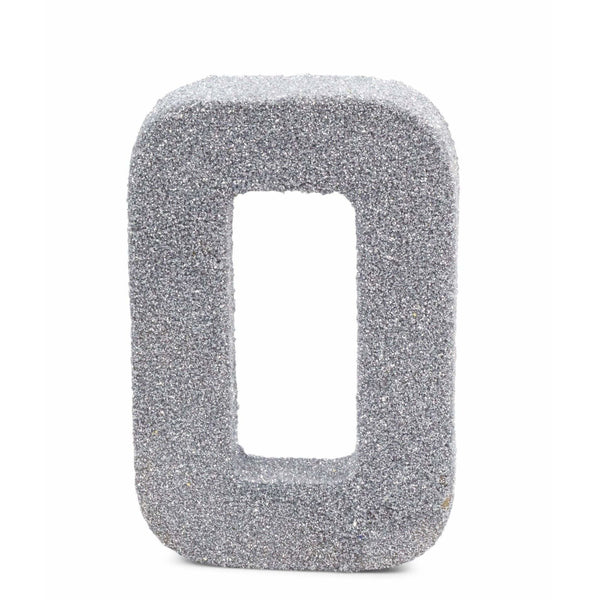 "8"" Silver Glitter Number 0, Large Glitter Numbers, Jamboree"