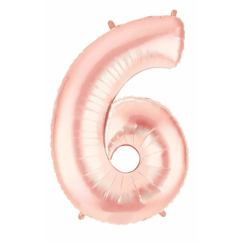 "40"" Rose Gold Number 6 Balloon, Number Balloons, Jamboree"