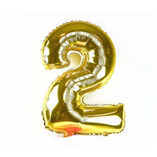 "40"" Gold Number 2 Balloon, Number Balloons, Jamboree"