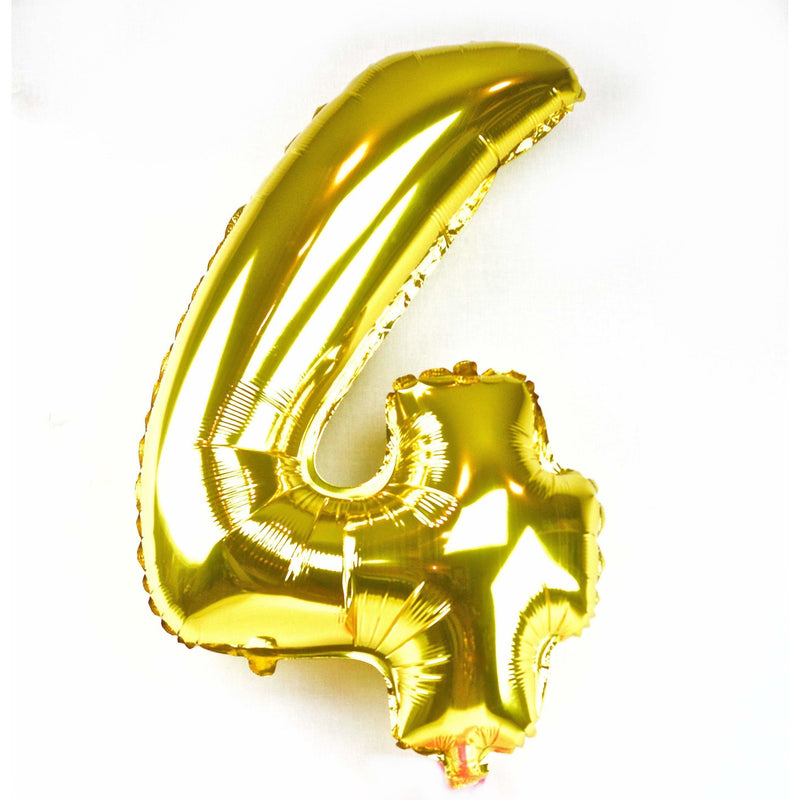 "40"" Gold Number 4 Balloon, Number Balloons, Jamboree"