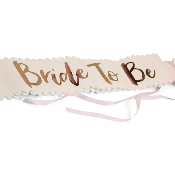 Party Hats & Sashes - Pink Bride To Be Sash