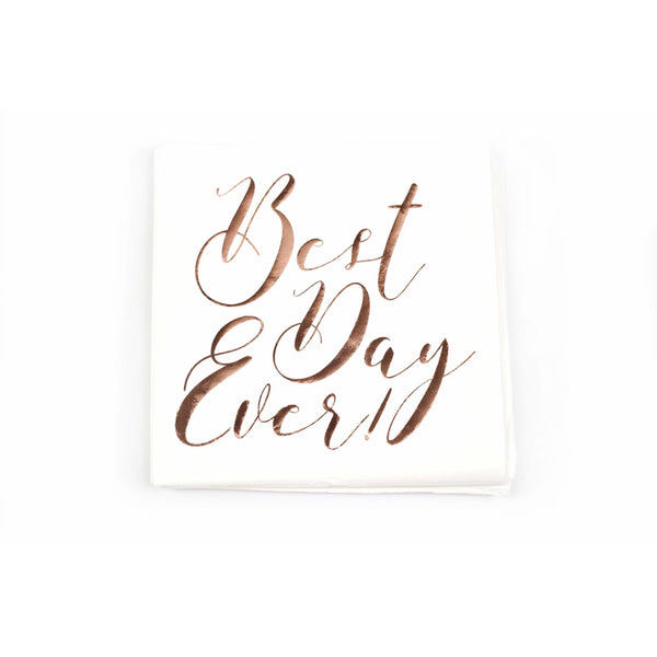 8pc 'Best Day Ever' Napkin, Tableware, Jamboree Party Box, Jamboree