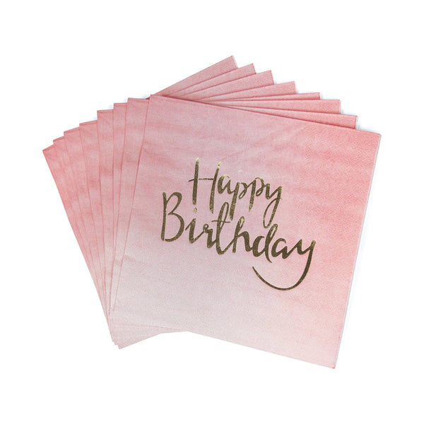 8pc 'Happy Birthday' Napkin, Tableware, Jamboree