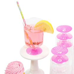 8pc Hot Pink Glitter Cup, Tableware, Jamboree