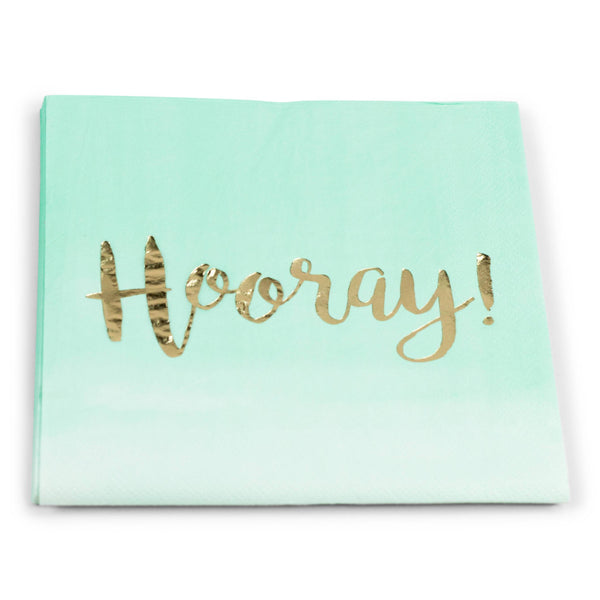8pc Mint  'Hooray' Napkin, Tableware, Jamboree