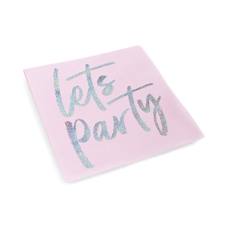 8pc Pink 'Let's Party' Napkin, Tableware, Jamboree