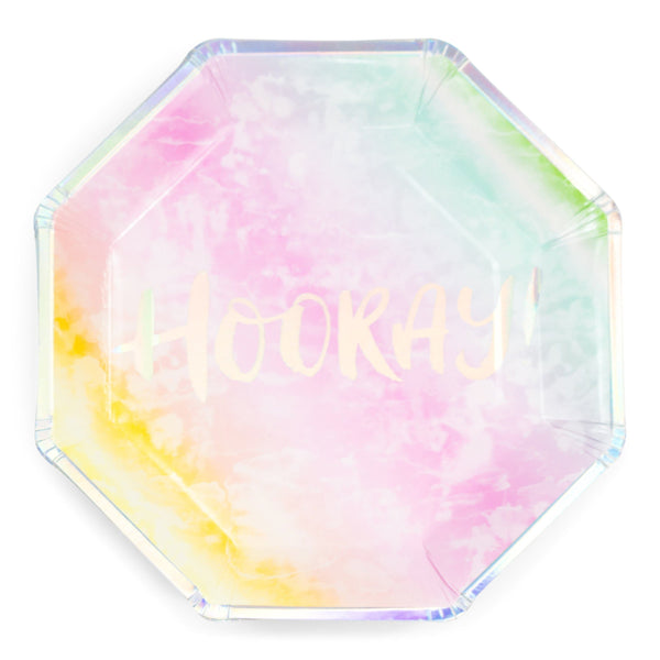8pc Rainbow 'Hooray' Dinner Plate, Tableware, Jamboree