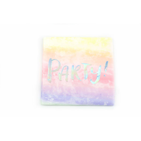 8pc Rainbow 'Party' Napkin, Tableware, Jamboree