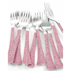 Blush Pink Glittered Silver Fork, Tableware, Jamboree
