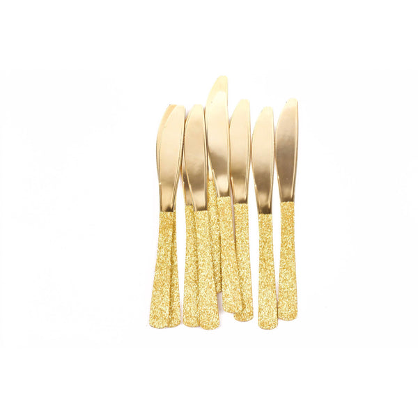 Gold Glittered Gold Knife, Tableware, Jamboree