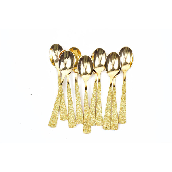 Gold Glittered Gold Spoon, Tableware, Jamboree