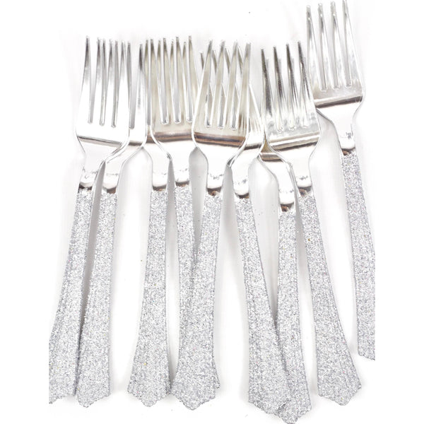 Tableware - Silver Glittered Silver Fork