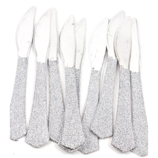 Tableware - Silver Glittered Silver Knife