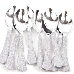 Tableware - Silver Glittered Silver Spoon