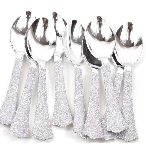 Silver Glittered Silver Spoon, Tableware, Jamboree