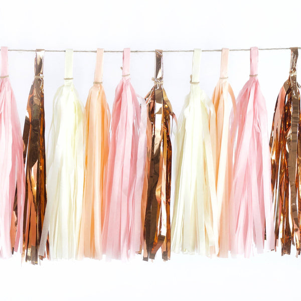 Blushing Peony Tassels, Tassel Garlands, Jamboree Party Box, Jamboree