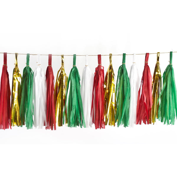 Tassel Garlands - Mistletoe Kisses Tassels