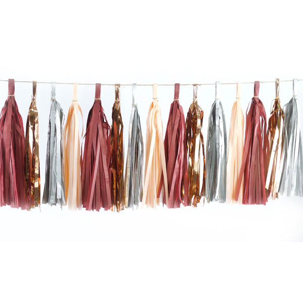 Tassel Garlands - Red Velvet Tassels