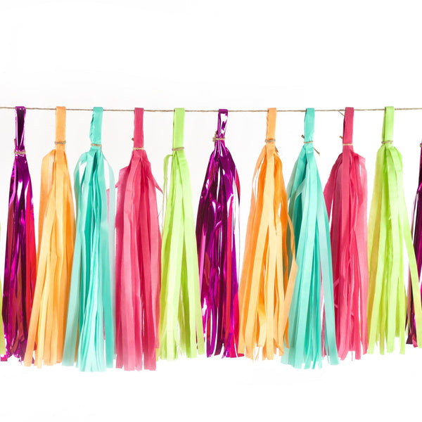 Tassel Garlands - Tropical Tango Tassels