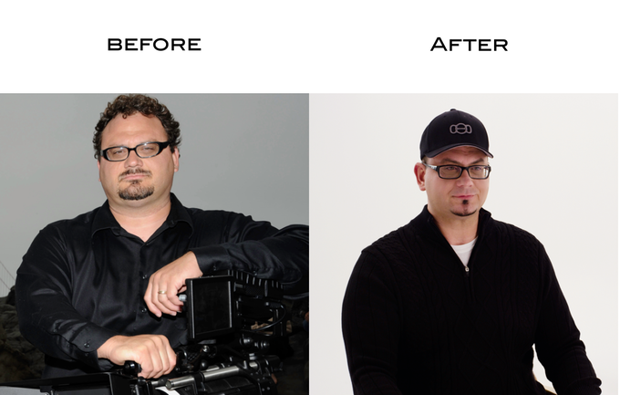 Photo of Mark before and after