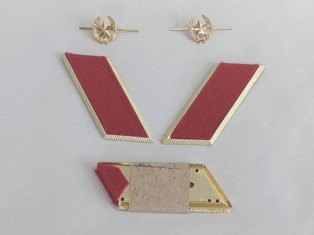 1969/1970 Soviet Motor Rifles Collar Tabs and Star Pin