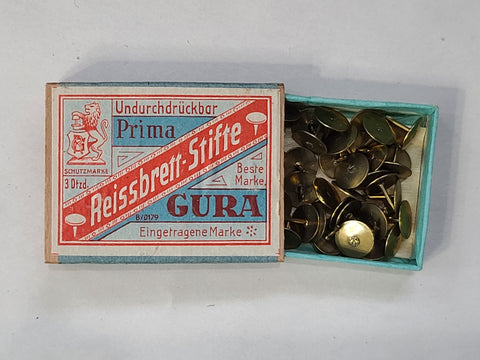 Original German Gura Thumbtacks in Box