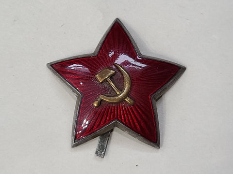Orignal Soviet Two Piece Cap Star 35mm (Broken Prong)