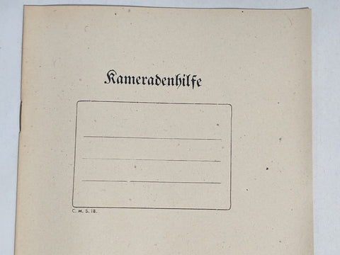 German Kameradenhilfe Notebook
