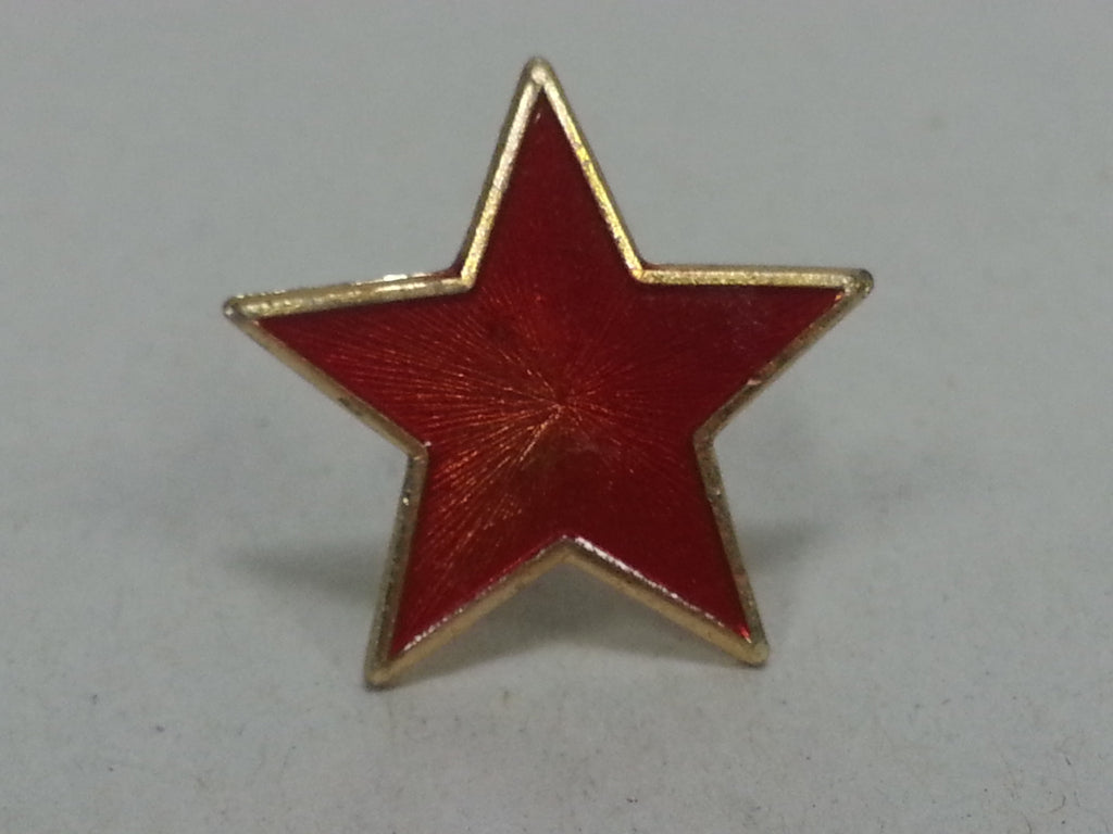 Bulgarian / Yugoslavian Red Enamel Hat Cap Star