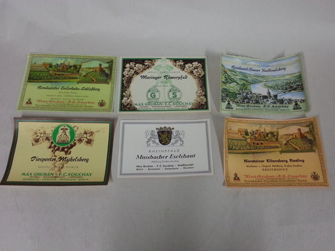 Original 1930s / 1940s WWII German Wine Labels - Set of 12