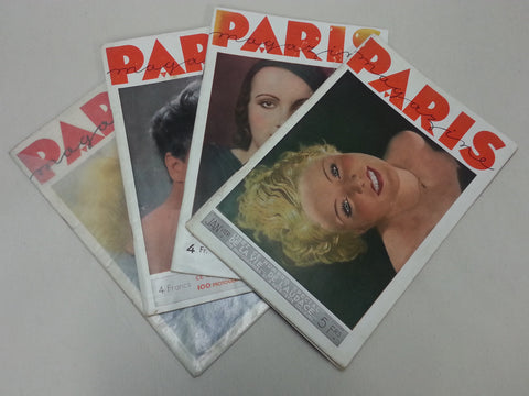 Original 1930s Paris Risqué Pin-Up Magazines Pre-WWII