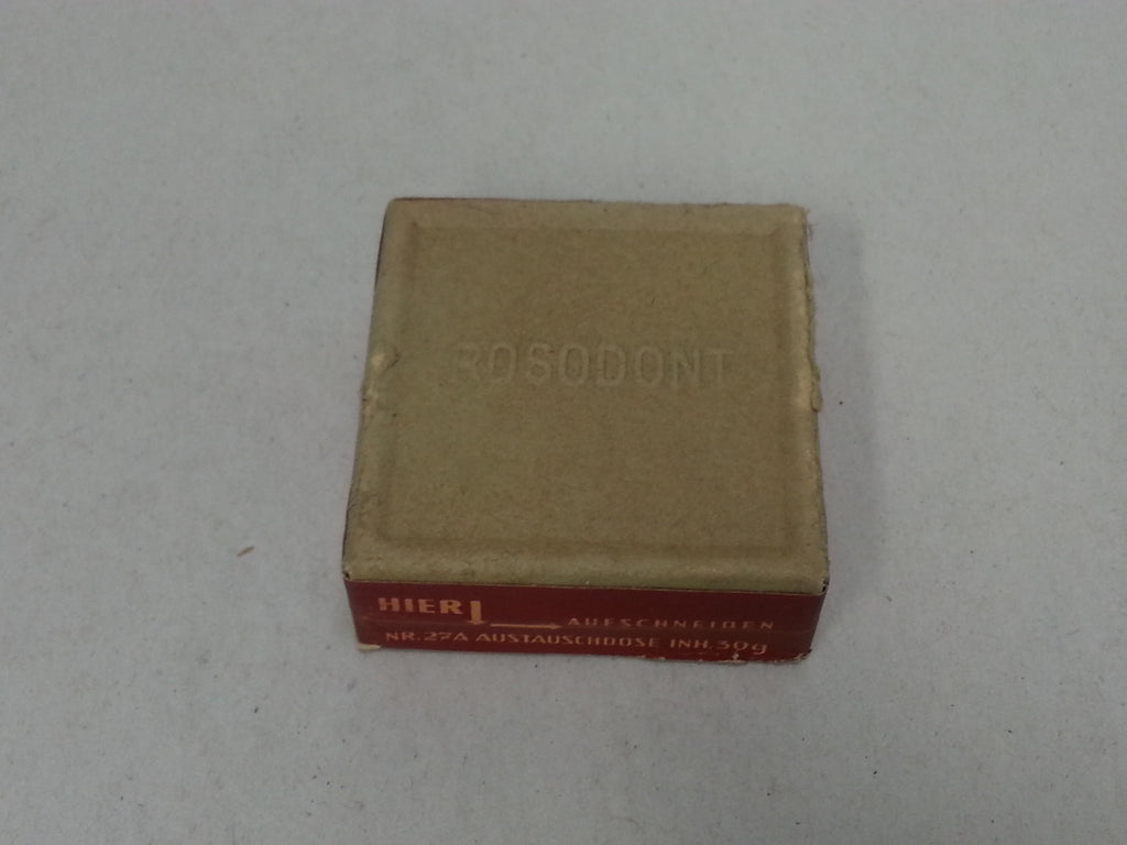 Original German WWII Rosodont Tooth Powder, Unopened