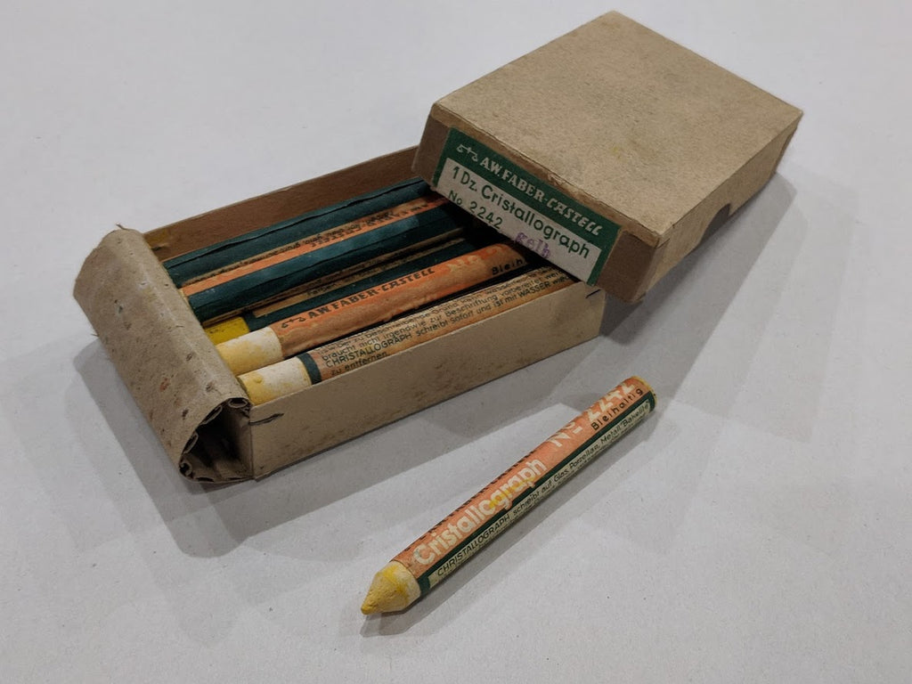 Original WWII-era German Box of Glass Crayons