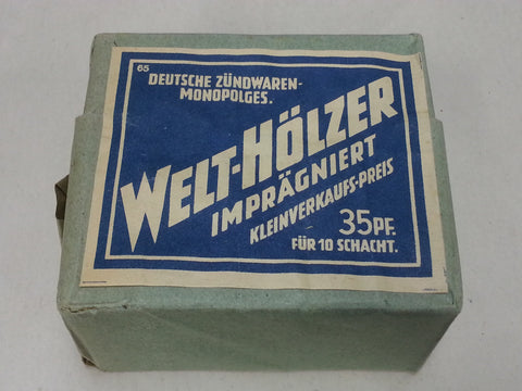 Original WWII German 10-Pack Welt Hölzer Brand Matches