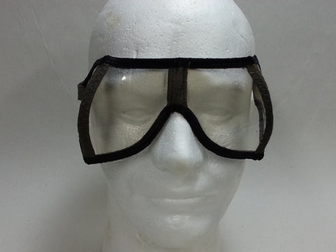 Original WWII German CLEAR Dust Goggles Unissued