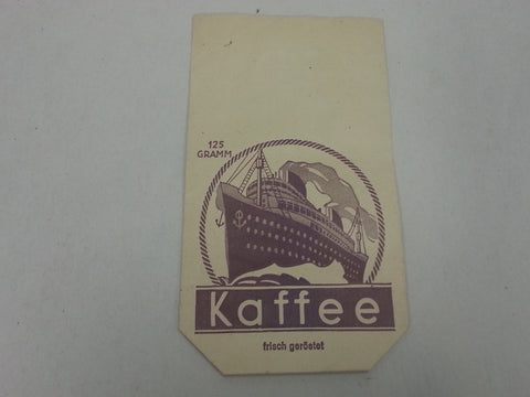 Original WWII German Coffee Bag with Boat Graphic