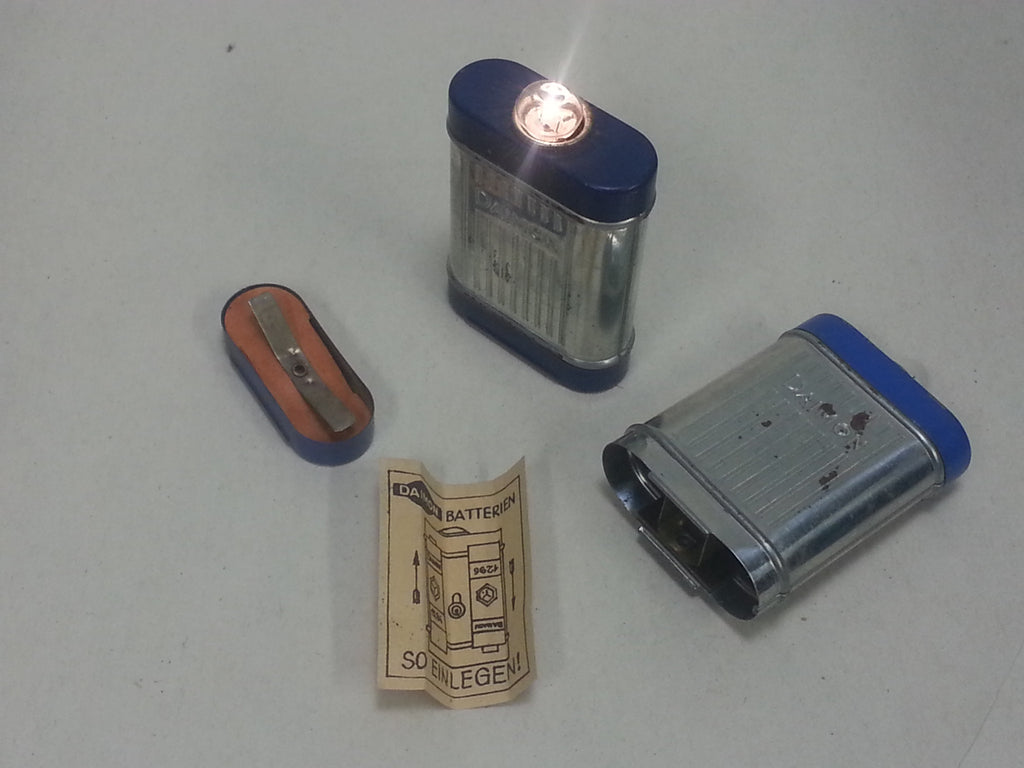 Original WWII German Daimon Blue Mini Pocket Flashlight