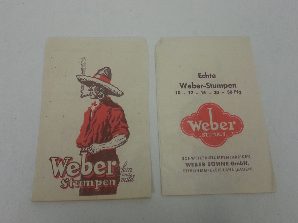 Original WWII German Package for Cigars Weber Brand