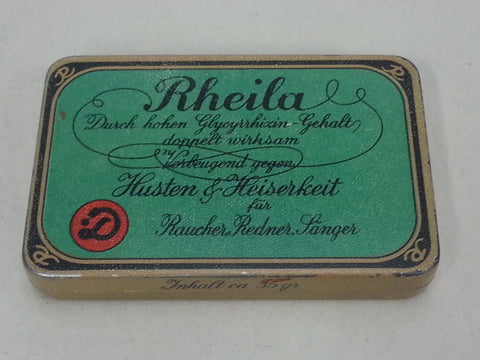 Original WWII German Rheila Cough Drops Tin
