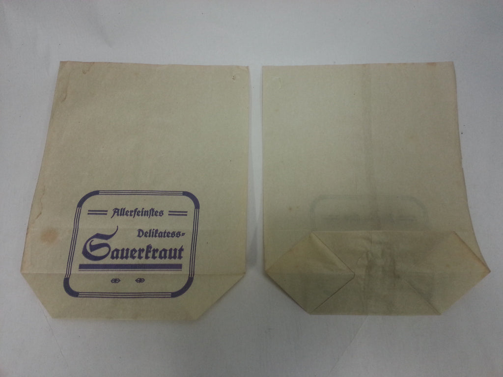 Original WWII German Sauerkraut Sales Bag
