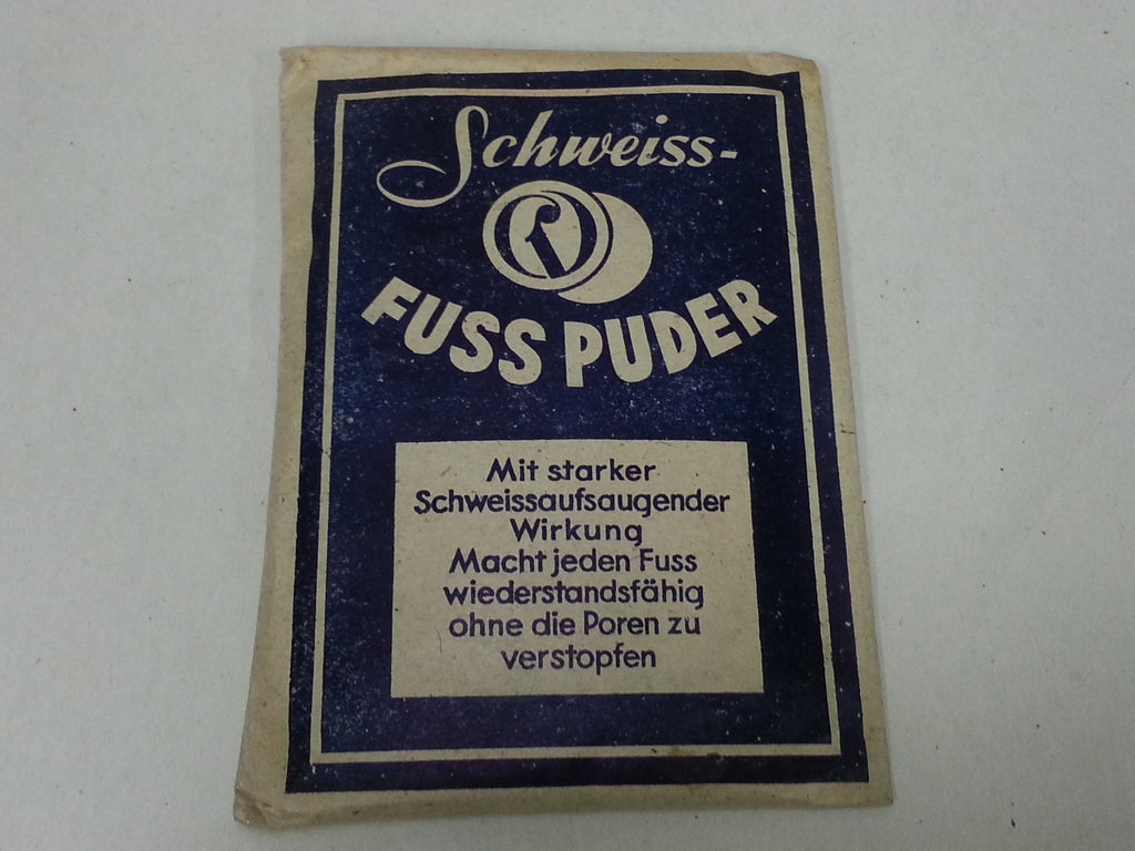 Original WWII German Schweiss- Fuss Puder Foot Powder Packet