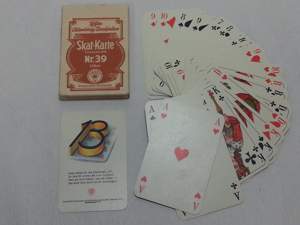 Original WWII German Skat Nr.39 Playing Cards