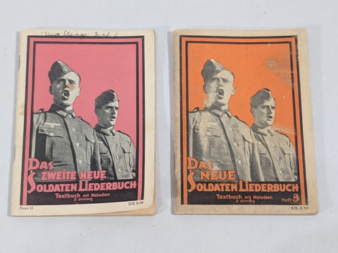 Original WWII German Soldier's Songbooks Vol 2 & 3